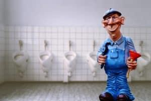 שרברב בשירותים ציבוריים
